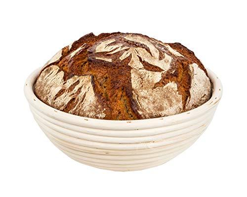 25 cm Gärkorb rund für Brot-Teig - Für 1,5 kg Teige - Brotbackkörbchen, Gärkörbchen, Bäcker-Zubehör