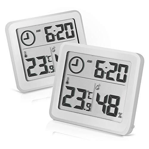 2 termómetros digitales de temperatura interior y higrómetro para el control del clima de la habitación
