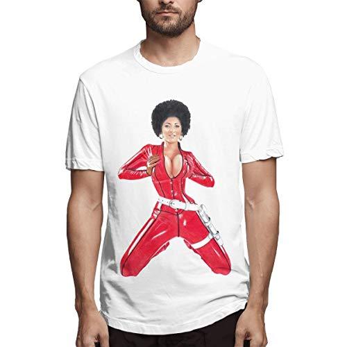 Pam Grier Men's Cotton Performance Short Sleeve T-Shirt White XXL