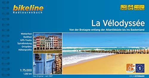 La Vélodyssée: Von der Bretagne entlang der Atlantikküste bis ins Baskenland. 1:75.000, 1.260 km, wetterfest/reißfest, GPS-Tracks Download, LiveUpdate (Bikeline Radtourenbücher)