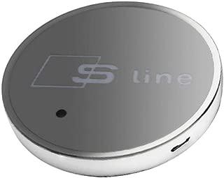 LED Auto Cup Holder Lichter 7 Farben /ändernden USB-Ladematte Luminescent Cup Pad LED-Innenraum-Atmosph/äre Lampe