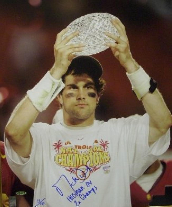 Matt Leinart signed USC Trojans 16x20 Photo w  Trophy Heisman 04  2X Champs Leinart Hologram  Autographed College Photos