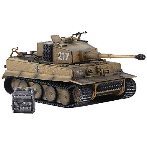 CMO Panzer Modelle Metall 1:72, Panzerkampfwagen VI AUSF E Tiger I Tank Karyus 217, Druckguss Militär Tank, Kinderspielzeug und Geschenke, 5,9 x 3,9 Zoll