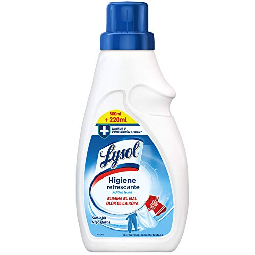 Lysol Higiene Refrescante para la Ropa, Aditivo Textil Elimina Olores - 720 ml