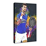Tennis-Sport-Poster Novak Djokovic (2) Leinwand Poster