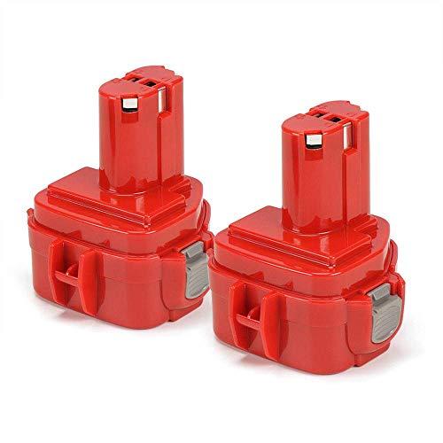 POWERGIANT 2PCS 12V 3.0Ah Ni-Mh Batería para Makita 1220 1222 1233 1234 1235 PA12 6270D 6271D 6227D 6627D 6313D 6980FD 8413D