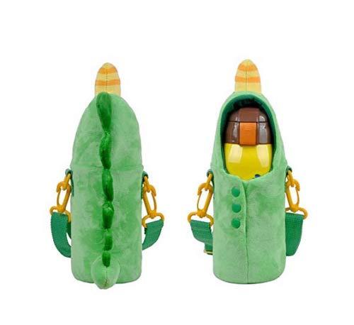 buycheapDG(JP) 水筒カバー ショルダー かわいい 恐竜 おしゃれ 保護ケース 携帯式ボトルカバ こども 断熱水筒カバー ー 水筒ポーチ ハンディポーチ アウトドア 水筒ケース