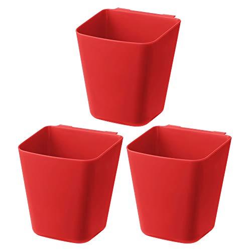 IKEA SUNNERSTA Küchenbehälter, zum Aufhängen, Rot, 12 x 11 cm, 3 Stück