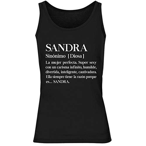 Sandra   La Mujer Camiseta sin Mangas para Mujer M