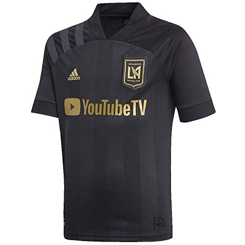 adidas 2020-21 LAFC Youth Home Jersey - Black YS