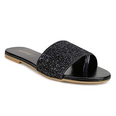 SHOFIEE Women Fashion Flats Sandal…