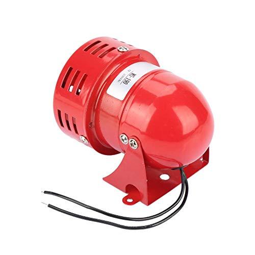 220V 120dB MS-190 Mini alarma de motor de metal Sonido industrial Zumbador de alarma Protector eléctrico contra robo Sonido continuo, rojo