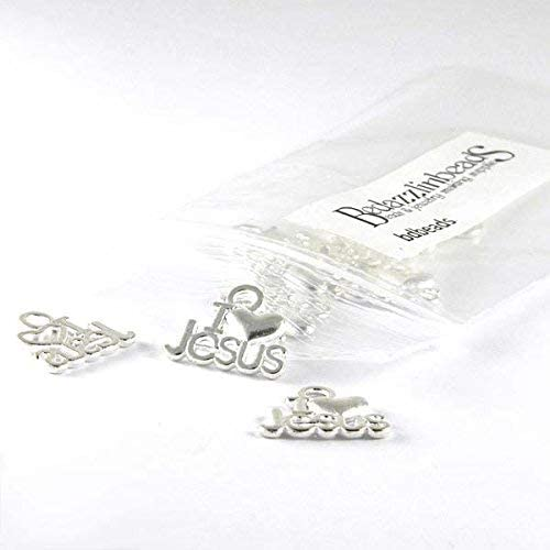 20 Silver I Love Jesus Christian Plated Trust Ba Pewter Heart w Max 61% OFF Charms