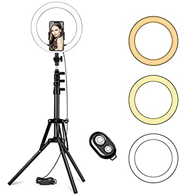 LED Ring Light with Adjustable Tripod Stand and Phone Holder Selfie Halo Light Dimmable Led Camera Beauty Ringlight Perfect for Live Streaming & YouTube/TikTok Video/Makeup Compatible from BeTIM