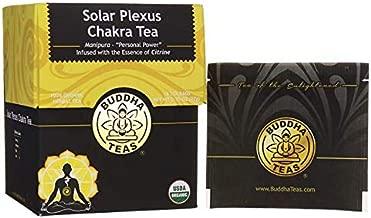 "Organic Solar Plexus Chakra Tea – 18 Bleach-Free Tea Bags – Infused with Essence of Citrine, Caffeine-Free, ""Personal Power"" Chakra Herbal Tea, Chemical-Free with no GMOs, Kosher"