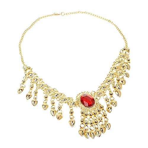 XKMY Collar de cadena de cabeza para mujer Bollywood Fashion 2 en 1 con cadena para la cabeza