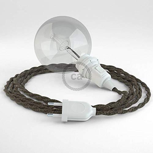 creative cables Créez Votre Snake pour Abat-Jour Lin Naturel Marron TN04 et apportez la lumière là où Vous Souhaitez. - 5 Mètres,