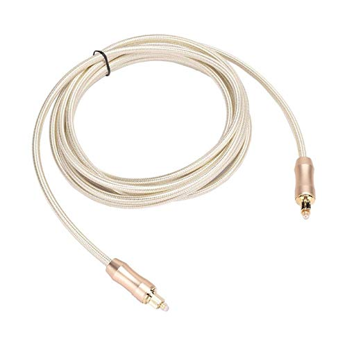 Fibra óptica, cable de audio digital óptico con revestimiento de fibra óptica Calidad de sonido incomparable para amplificador de potencia Decodificador de audio para amplificador de(3 meters)