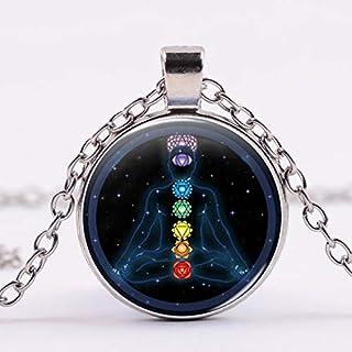 N\C Mode retro livets träd halsband glas växt hänge brons färg kedja halsband smycken för kvinnor flicka tröja kedja