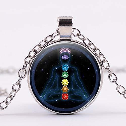 N\C Mode retro livets träd halsband glas växt hänge brons färg kedja halsband smycken för...