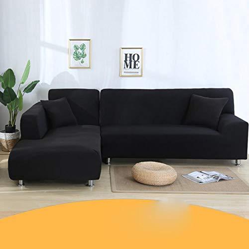 KKDIY Funda de sofá para Sala de Estar Funda elástica en Forma de L Chaise Longue 1/2/3/4 Plazas Funda de sofá Fundas elásticas-006, Seater3 (190-230CM), ESPAÑA