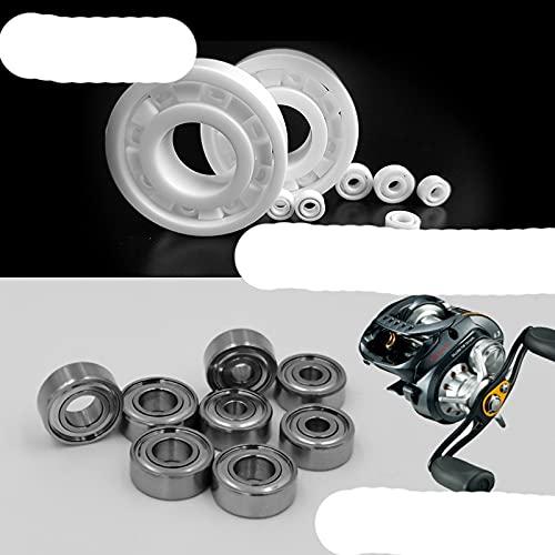 Rodamiento de cerámica híbrido La rueda de caída de agua se ha mejorado y actualizado para un ralentí suave 115 63 74 84 85 95 104-117 Tamaño 7X11X3mm, Cerámico completo