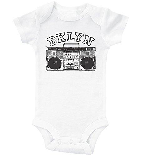 Baffle Brooklyn Baby Onesie/BKLYN/Unisex Infant Bodysuit/New York Onesie (Newborn, White SS)