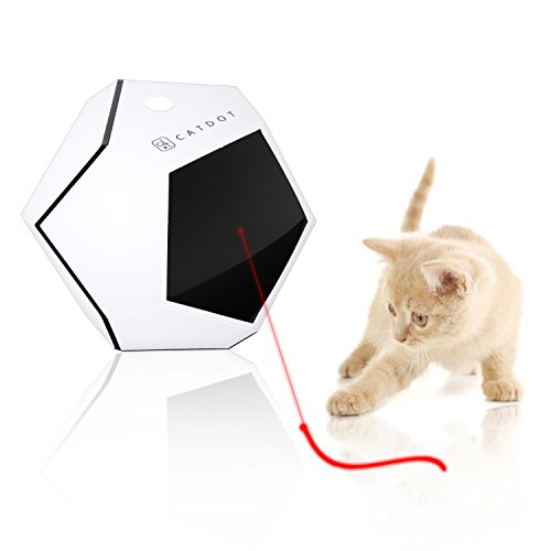 SereneLife Automatic Cat Cube Toy - Electronic Rotating & Moving Teaser Machine for Interactive & Smart Sensory Pet Play - Auto Wireless Control - SLCTLA40.5