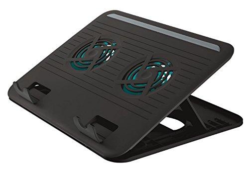 Trust Cyclone Supporto per Laptop, con 2 Ventole di Raffreddamento