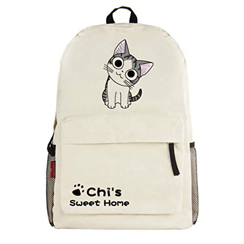 WANHONGYUE Chi's Sweet Home Chat Anime Cosplay Backpack Sac à Dos Loisir Sac de Court Voyage Beige /3