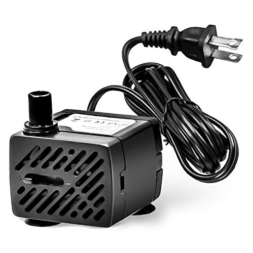 ILEBYGO 50 GPH 3W Mini Submersible Water Pump for Aquariums, Fish Tank,Wave Maker Pump, Pond, Fountain, Hydroponics