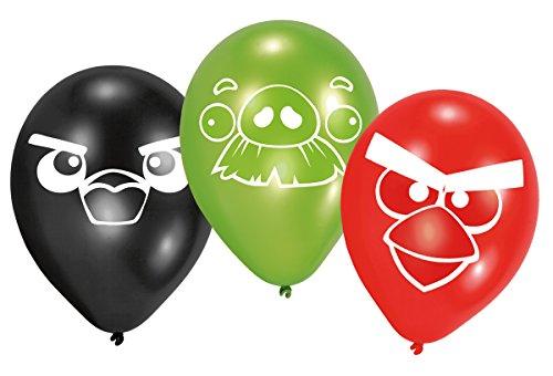 Lot de 6 ballons Angry Birds