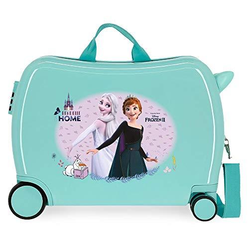Disney Frozen Arendelle Is Home Maleta Infantil Azul 50x38x20 cms Rígida ABS Cierre de combinación Lateral 38L 3 kgs 4 Equipaje de Mano