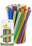 Pajitas reutilizables de plástico, 20 unidades, 14 cm, resistentes, reutilizables y aptas para...