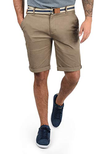 !Solid Monty Herren Chino Shorts Bermuda Kurze Hose Mit Gürtel Aus Stretch-Material Regular-Fit, Größe:M, Farbe:Dune (5409)