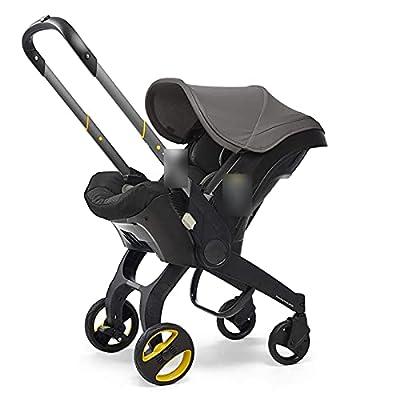 HZPXSB Cochecito de bebé 3 en 1 con Asiento de automóvil Baby Baby BABSSET High Larjetos Plegables Carrups de cochecitos para recién Nacidos Paisaje 4 en 1 (Color : Dark Grey)