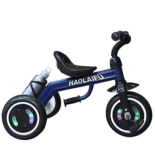 AJH Dreirad beweglicher Standplatz 1~8 Kinder Tricycle Pedale Von Tricycles Tricycles für Kinder Kinder Kinder Landau,Blau