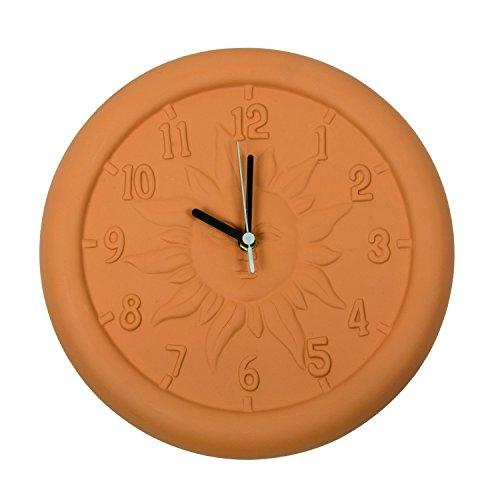 Poolmaster 52550 Indoor or Outdoor 12-Inch Terra Cotta Clock