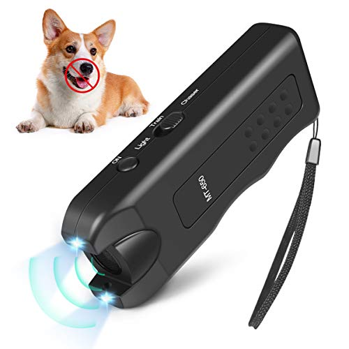 Quenta Handheld Dog Repellent, Ultrasonic Infrared Dog Deterrent, Bark Stopper + Good Behavior Dog Training