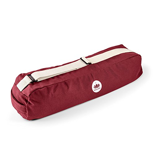 Lotuscrafts Yogatasche PUNE aus Bio-Baumwolle - Fair & Ökologisch hergestellt - Yogamattentasche groß mit extra viel Platz - Tasche für Yogamatten & Yoga-Zubehör