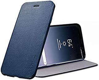 Samsung Galaxy Note 8 X-Level Flip Leather Case Cover - Navy Blue
