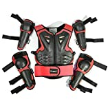Kids Motorcycle Riding Protective Gear Armor Suit for Motocross Cycling Skiing Skateboarding Roller Skating (Red)