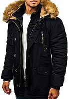 BOLF Homme Blouson d'hiver Veste Parka Matelassé Capuche Style Sportif Mix 1A1