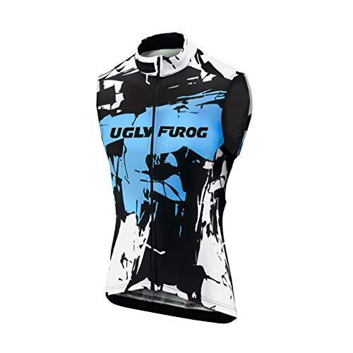 UGLY FROG Herren Ärmellos Radtrikot Fahrradtrikot Fahrradbekleidung für Männer mit Elastische Atmungsaktive Schnell Trocknen Stoff Cycling Vest DEHerren27
