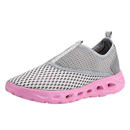AIni Herren Schuhe,Mode 2019 Neuer Heißer Beiläufiges Paar Hohle atmungsaktive leichte Turnschuhe Soft Bottom Mesh Laufschuhe Partyschuhe Freizeitschuhe(35,Rosa)