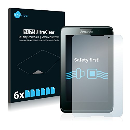 Savvies 6X Schutzfolie kompatibel mit Lenovo Tab A7-50 Bildschirmschutz-Folie Ultra-transparent