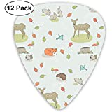 Lovely Cartoon Animals Guitar Picks Set 12 Púas de ukelele, que incluyen 0.46 mm, 0.71 mm, 0.96 mm guitarra acústica Pick and Pick Box