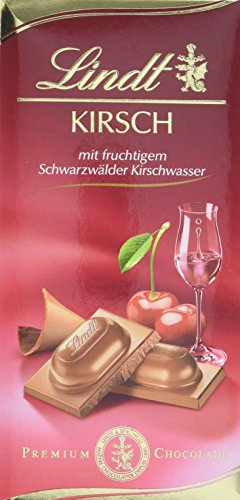 Lindt & Sprüngli Kirsch Tafel, 4er Pack (4 x 100 g)