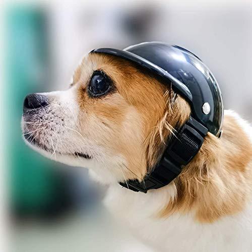 NXL Casco para Mascotas Perro Motocicleta Casco Bicicleta Sombrero Casco Suministros para...