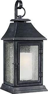 Feiss OL10603DWZ Shepherd Marine Grade Outdoor Patio Lighting Wall Lantern, Bronze, 1-Light (12